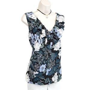 LOFT sleeveless floral top